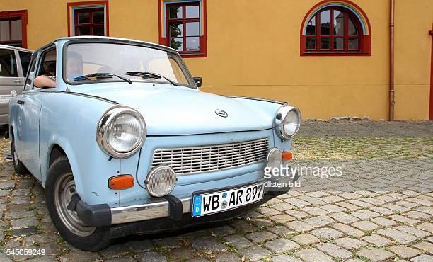 Germany SaxonyAnhalt Halle trabant car made in the former GDR