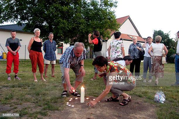 Germany Saxony-Anhalt Pretzien - location were a right-wing extremist incident took place, right-wing extremists burnt a book of Anne Frank's diary...