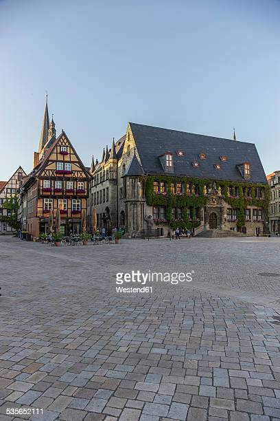 Germany, Saxony-Anhalt, Quedlinburg, Townhall and market square