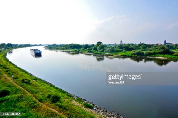germany, saxony-anhalt, the elbe before wittenberg - saxony anhalt stock pictures, royalty-free photos & images