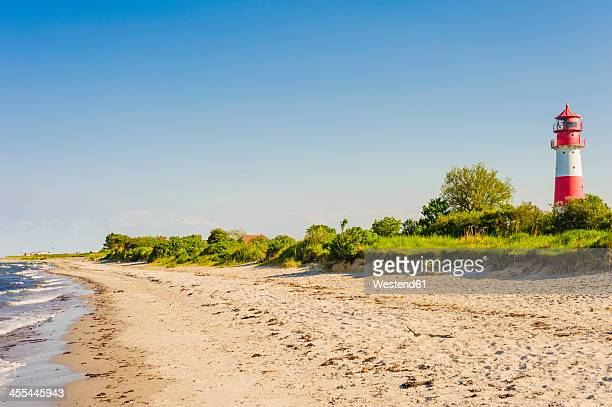 Germany, Schleswig Holstein, View of lighthouse at beach