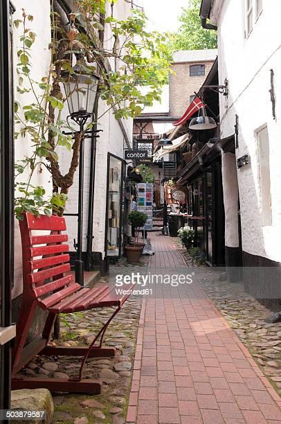 Germany, Schleswig-Holstein, Flensburg, Old town, Alley near Red street