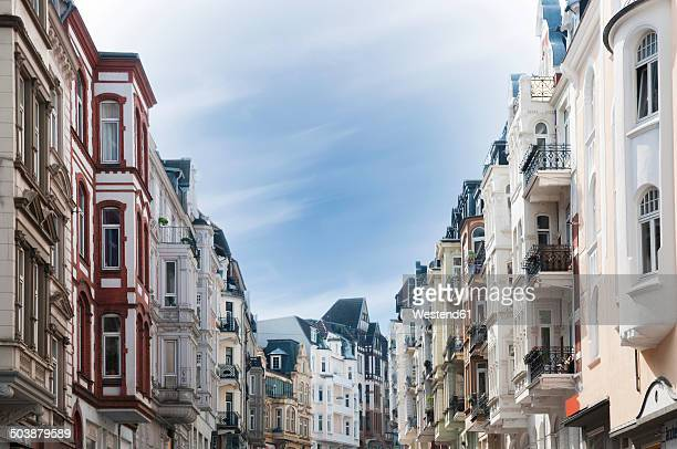 Germany, Schleswig-Holstein, Flensburg, Old town, Facades of houses