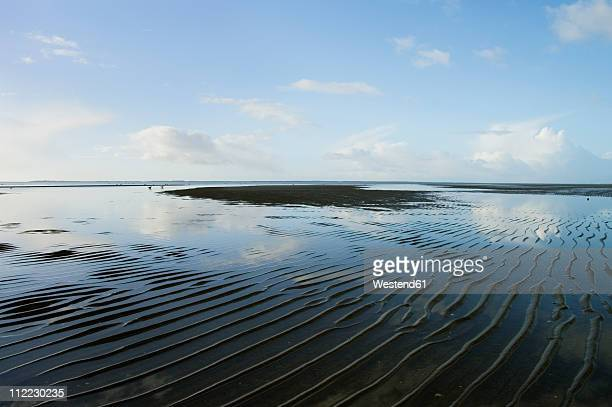 Germany, Schleswig-Holstein, Foehr, View of northern sea with mud flat