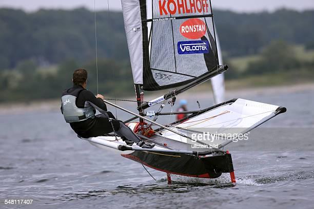 Germany SchleswigHolstein Kiel Kieler Woche 2008 sailing dinghy Moth Class