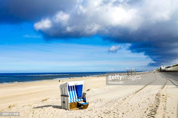 germany, schleswig-holstein, sylt, kampen, beach - schleswig holstein stock photos and pictures