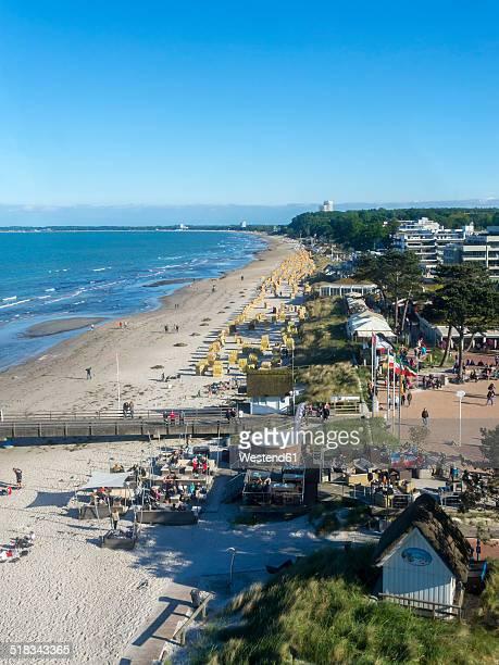 Germany, Schleswig-Holstein, View to beach in Scharbeutz and Timmendorf Beach