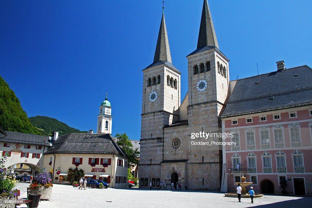 Germany: Schlossplatz at Berchtesgaden : Stock Photo