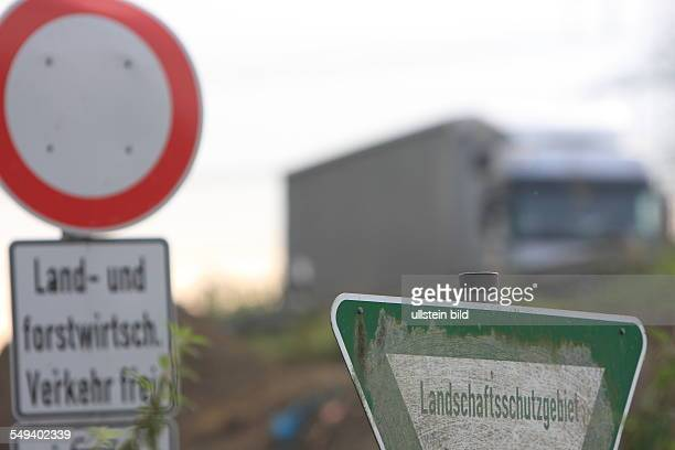 Germany sign Nature Reserve at highway 40 near Bochum