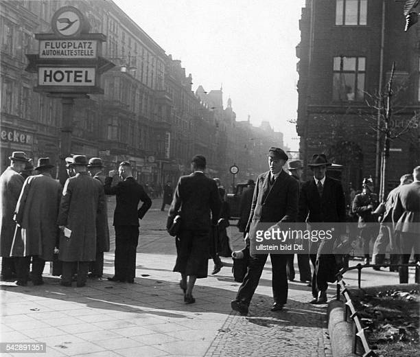 Germany Silesia Gleiwitz Wilhelmstrasse around 1938