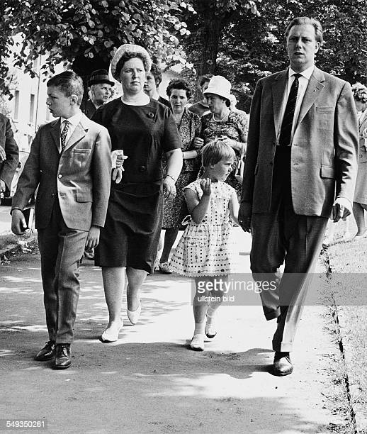 Germany sixties family after church service in EssenWerden Ruhr area