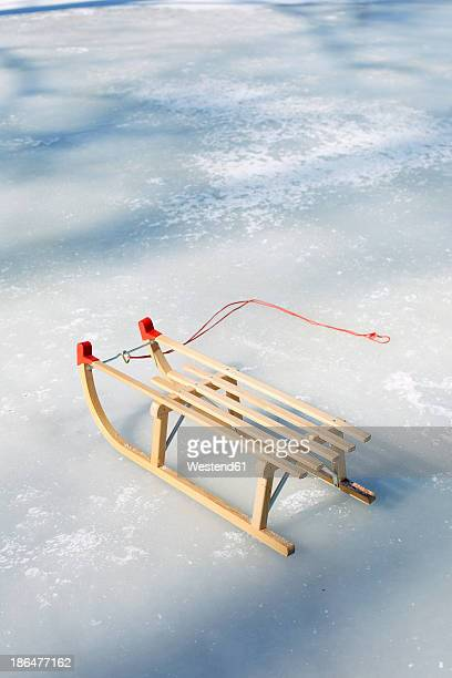Germany, Sledge on snow
