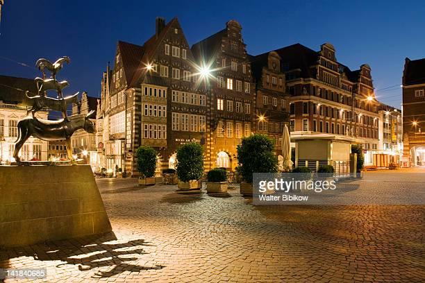 Germany, State of Bremen, Bremen, Town Musicians of Bremen statue