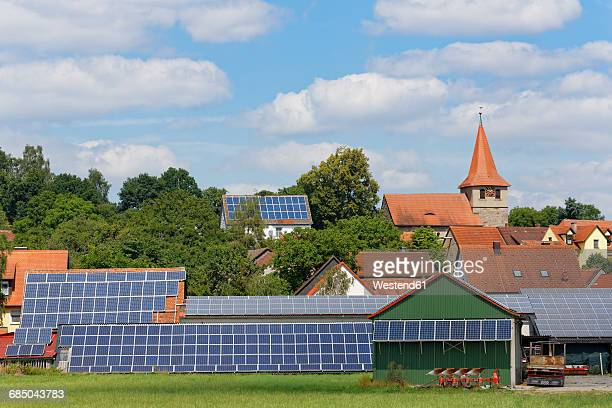 Germany, Stettberg, photovoltaic installations