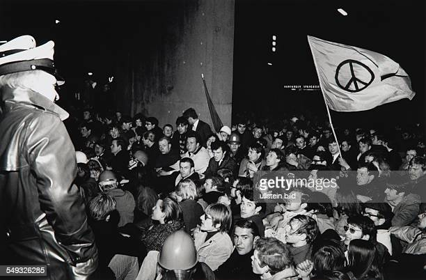 Germany Student's demonstration in front of the Police Headquarters in Hamburg after the assassination attempt on Rudi Dutschke