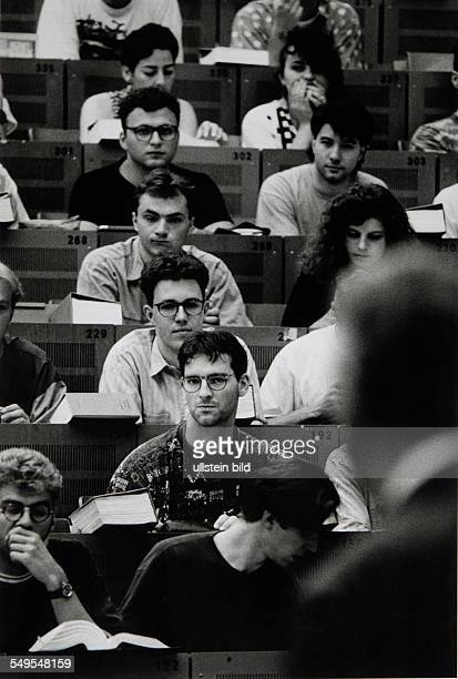 Germany students sitting in the lecture hall of the Bochum university