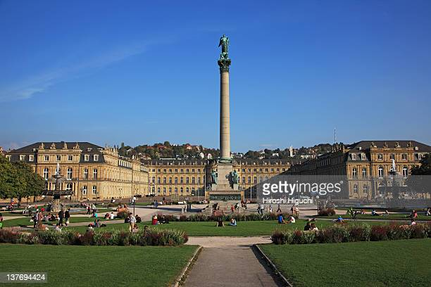 germany, stuttgart - castle square stock pictures, royalty-free photos & images