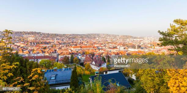 Germany, Stuttgart, View over the Western part of the city