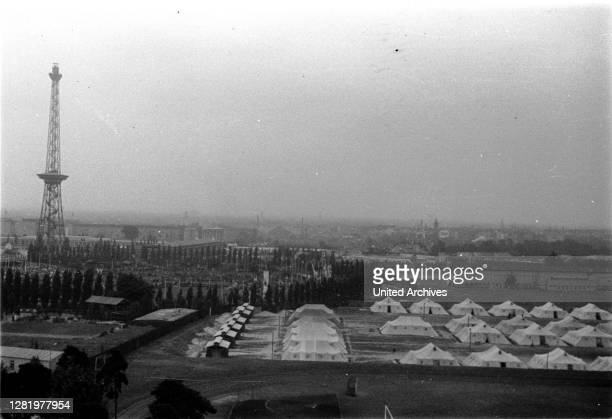Germany - Summer Olympics 1936 in Berlin, Olympic Village, in the background the radio tower.