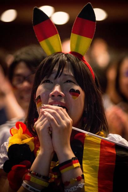 JPN: German Fans Gather In Tokyo To Watch 2014 FIFA World Cup