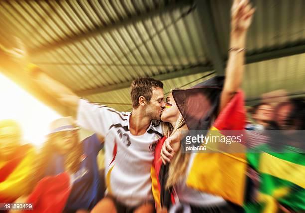 Allemagne, les supporters et adorer après avoir remporté
