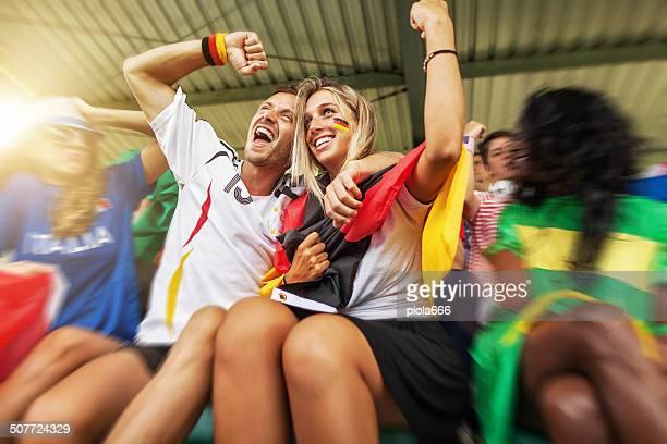 Seguidores campions Mundial de fútbol de alemania