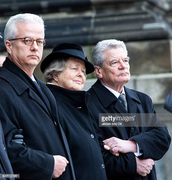Germany takes farewell of the former German President Richard von Weizsäcker on February 11 2015 In the Berlin Cathedral took part at the funeral of...