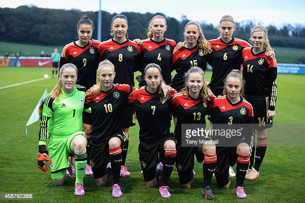 Germany team group during the International Friendly match between U16 Girl's England v U16 Girl's Germany on November 10 2014 in Burton upon Trent...