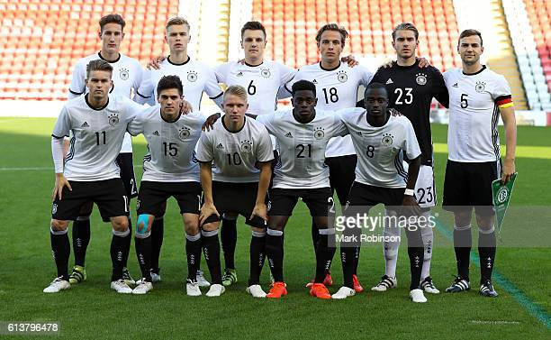 Germany team group photo during the U20 International Friendly match between Germany and Netherlands on October 10 2016 in Leigh Greater Manchester