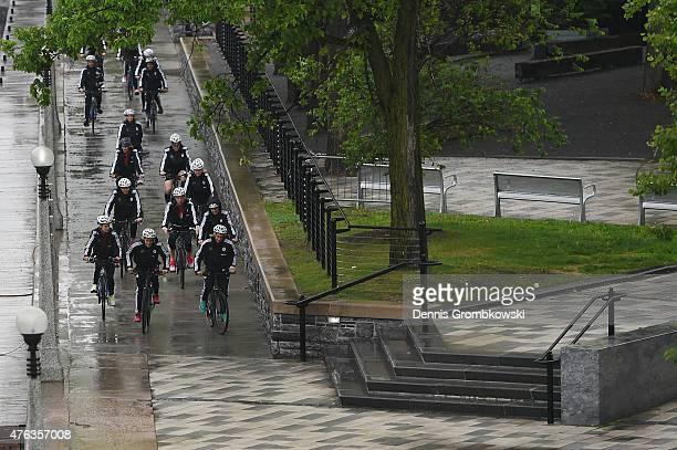 Germany team takes a bike ride on June 8, 2015 in Ottawa, Canada.