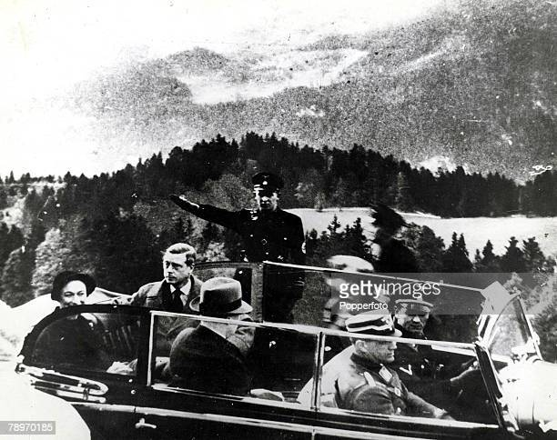 1937 Germany The Duke and Duchess of Windsor formerly King Edward VIII and Wallis Simpson pictured at Berchtesgaden after visiting German leader...