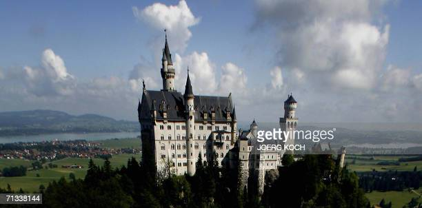 The 'fairy tale' castle Neuschwanstein is seen 30 June 2006 near Schwangau Bavaria The castle was rebuilt by the King of Bavaria from 1864 to 1886...