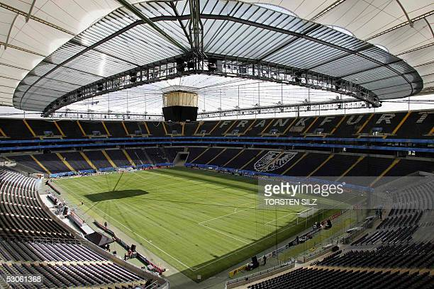 The Waldstadion stadium in Frankfurt/M is seen on 13 June 2005 The stadium will host some matches of the FIFA Confederations Cup kicking off 15 June...