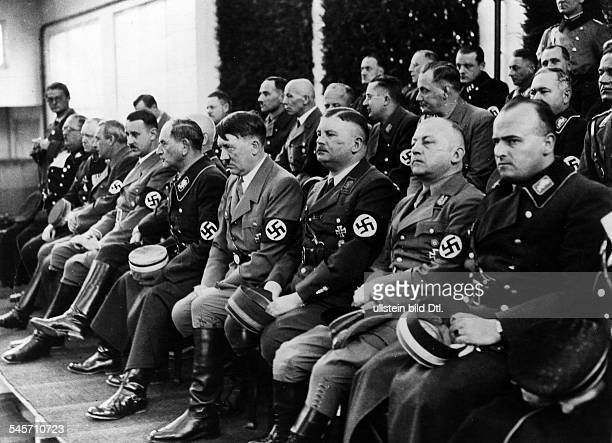 Germany Third Reich Ceremony in Munich marking the first anniversary of the takeover of power of the Nazis; Nazi leaders from the right: Commissioner...