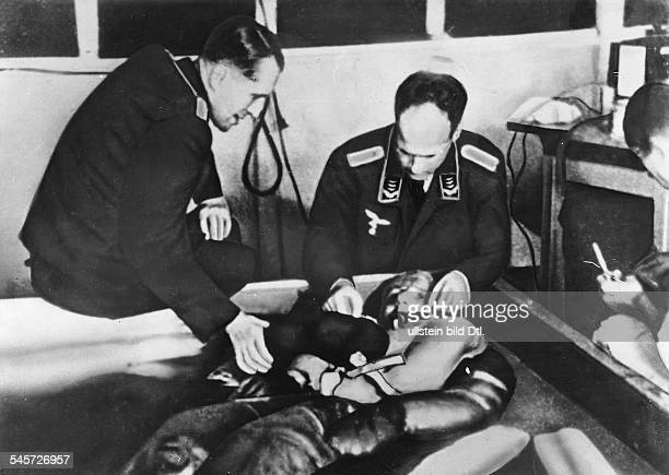 Germany Third Reich concentration camps 193945 Human experiments with inmates conducted by the German Air Force in Dachau concentration camp| shown...