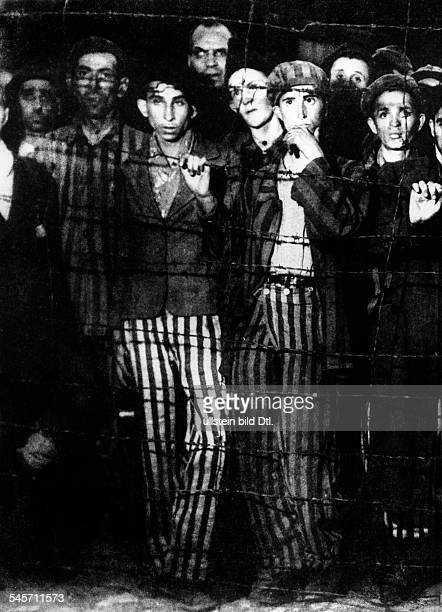 Germany Third Reich concentration camps 193945 Inmates of Buchenwald found after the liberation of the camp by troops of the 3rd US Army April 1945
