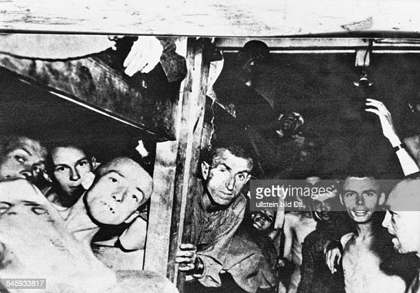 Germany Third Reich NS era Persecution of Jews Holocaust Concentration Camp Mauthausen Prisoners after liberation Ward of the socalled Moslems