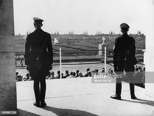 Germany Third Reich NSDAP Nuremberg Rally 1936 Parade of the Reich Labour Service at the rally ground