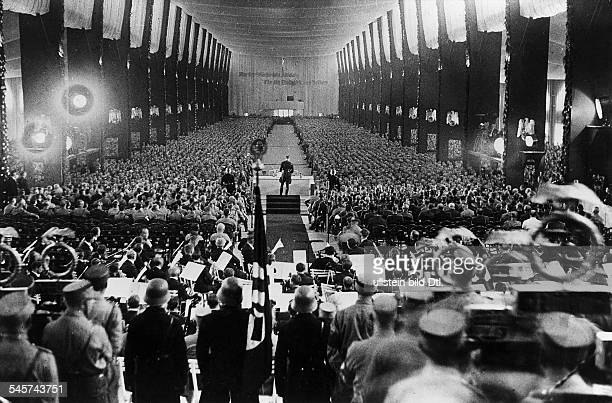 Germany Third Reich Nuremberg Rally 1933 Opening of the party convention in Nuremberg| the head of the Nazi district of Munich Adolf Wagner is...
