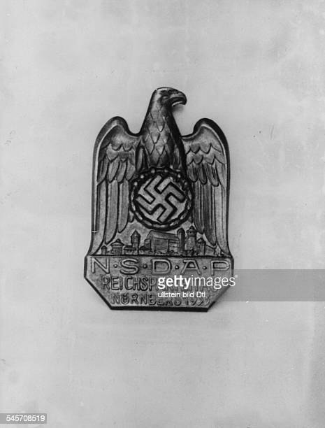 Germany Third Reich Nuremberg Rally 1933 Plaque of the party convention in Nuremberg autumn 1933