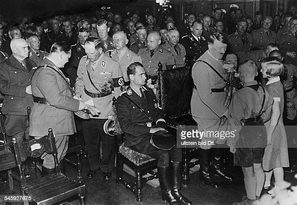 Germany, Third Reich - Nuremberg Rally 1933 Representatives of the city of Nuremberg recieving Nazi Party leaders in the city hall's council chamber|...