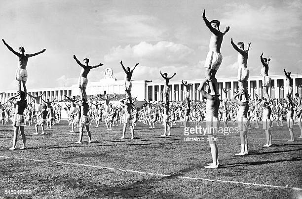 Germany Third Reich Nuremberg Rally 1938 Gymnastics performances on 'Community Day' on the finish of the 'NS Combat Games'