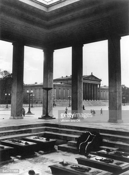 Germany Third Reich One of the two 'Honorary Temples for the Fallen of the Movement' at the Koenigsplatz in Munich with the coffins of the victims of...