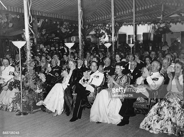 Germany Third Reich Private reception for Nazi leaders and artists at the house of Reich Foreign Minister Joachim von Ribbentrop in Berlin Dahlem| at...