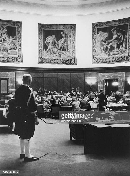 Germany Third Reich Reception at the 'Fuehrer Building' at the Koenigsplatz in Munich view of the Great Hall Published by 'Berliner Illustrirte...