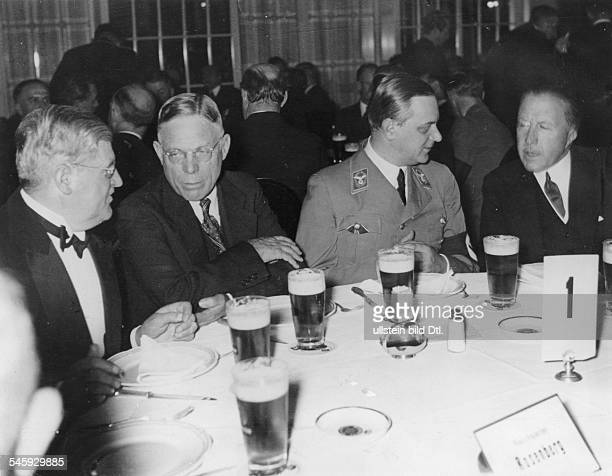 Germany Third Reich Reception of the 'Foreign Policy Office' at the Hotel Adlon Berlin at which Alfred Rosenberg made a speech about 'Europe's...