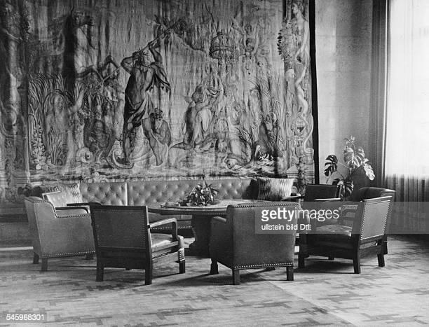 Germany Third Reich Room in the 'Fuehrer Building' at the Koenigsplatz in Munich published 1938 photographer Hans Henschke