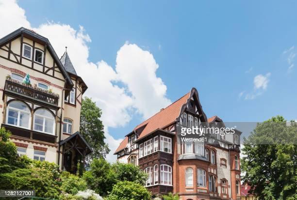 germany, thuringia, eisenach, historical villas in predigerberg/hainstein quarter - アイゼナッハ ストックフォトと画像