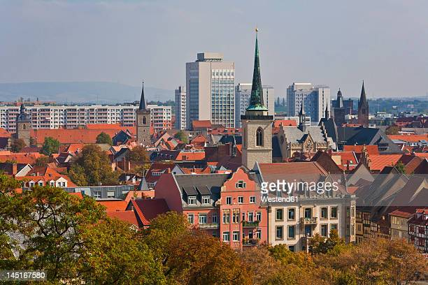 germany, thuringia, erfurt, view of city - erfurt stock pictures, royalty-free photos & images