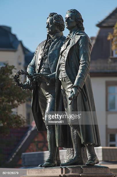 Germany, Thuringia, Weimar, Goethe-Schiller Monument